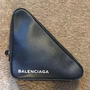 Balenciaga Black Triangle Pouch